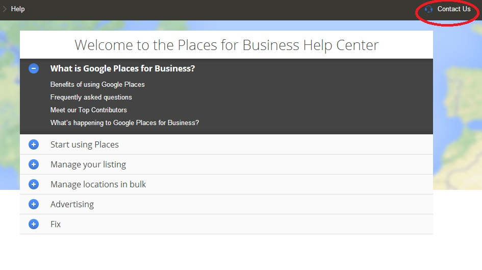 google places support