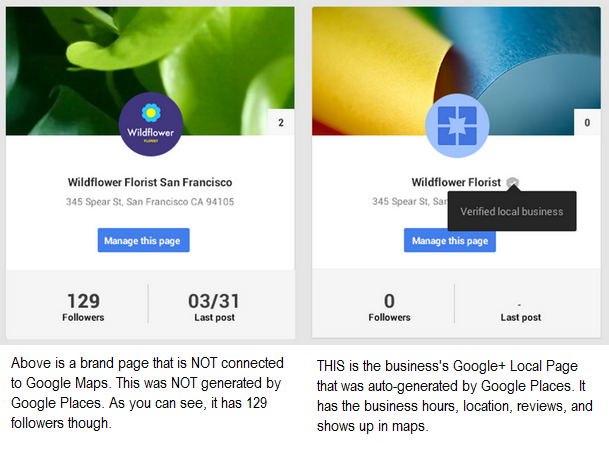 google plus brand page problem image