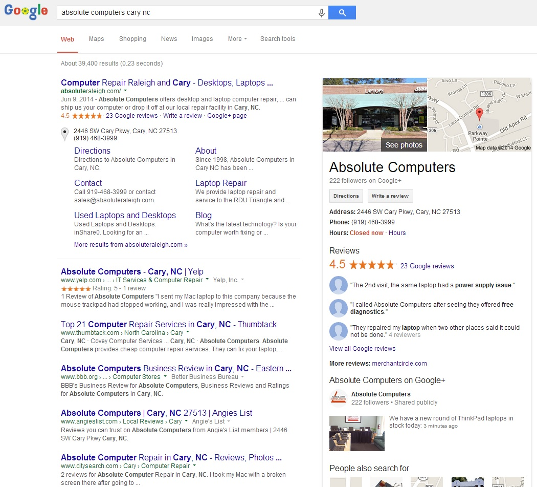 business google listing