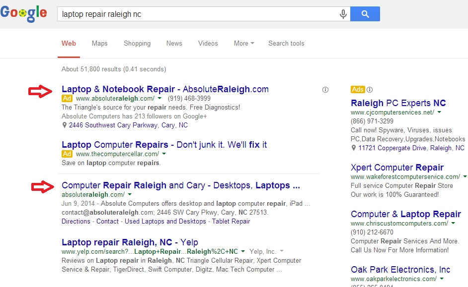 raleigh search result