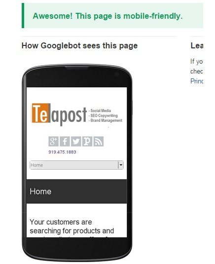 mobile friendly site example