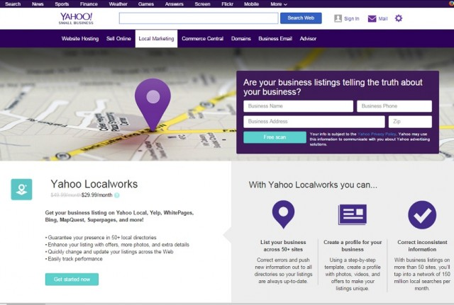Yahoo Local Screenshot