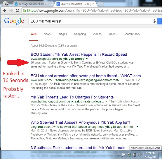 Google rankings in 36 Seconds