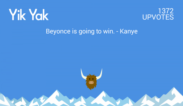 Beyonce is going to win. - Kanye