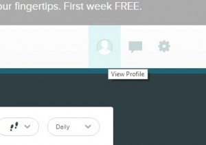 view profile button on fitbit.com