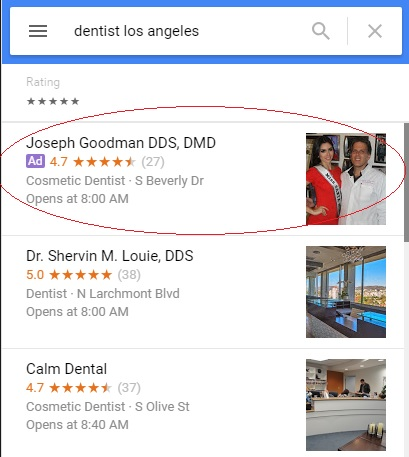 ads in google maps for location extensions