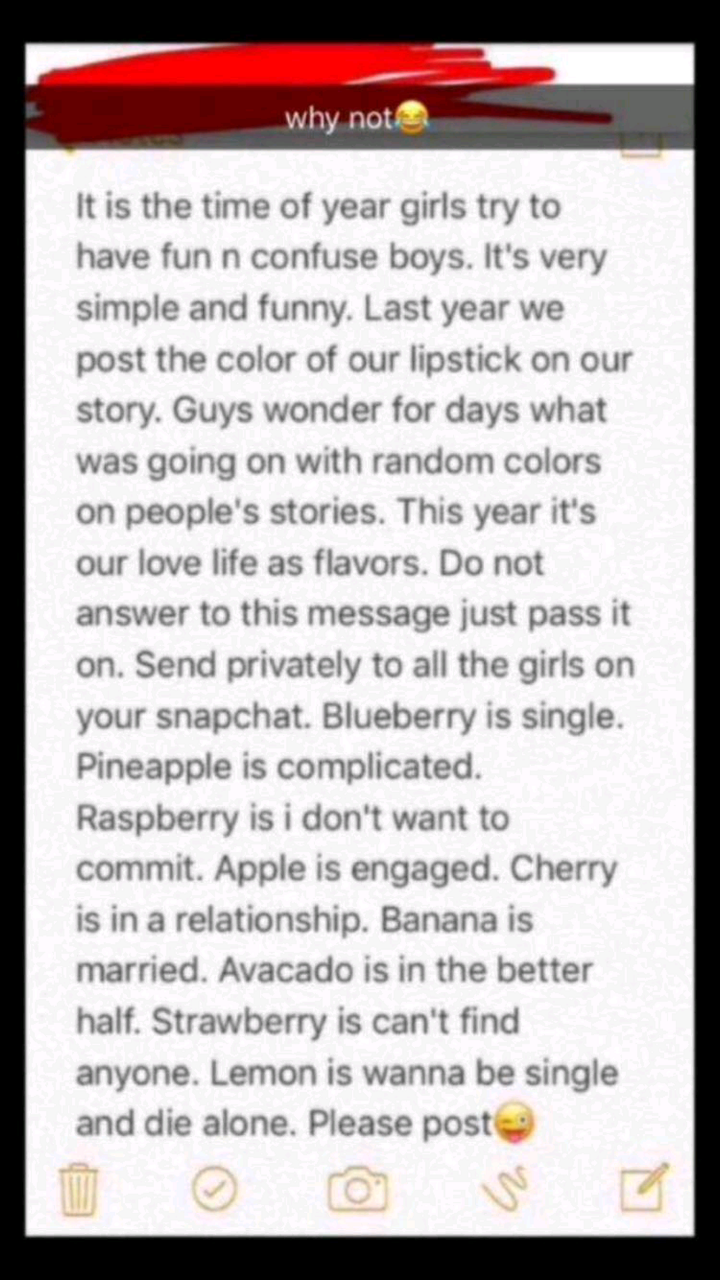 snapchat fruit meanings image