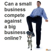 Can a small business compete against a big business online?