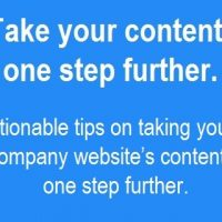 Take your Content One Step Further
