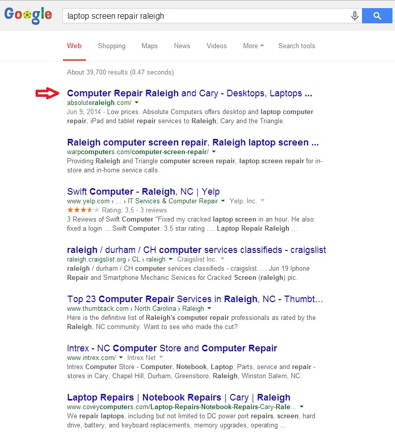 Another SERP screenshot