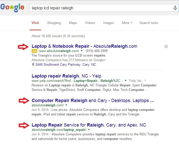 More SERP domination