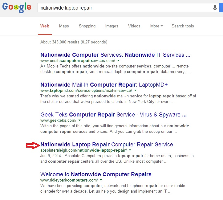 nationwide SERP
