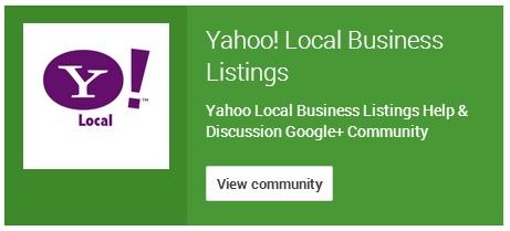 yahoo listing community