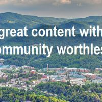 Is great content without community worthless?