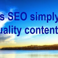 Is SEO just Quality Content?