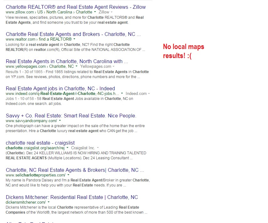 Charlotte real estate agent search results