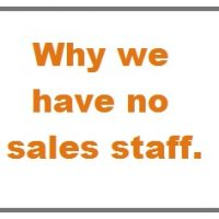Why We Have No SEO Sales Staff