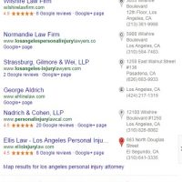 SEO Analysis of Los Angeles Personal Injury Attorneys  - January 2015