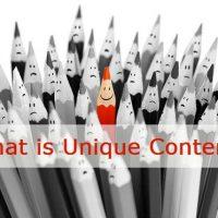 What is Unique Content?