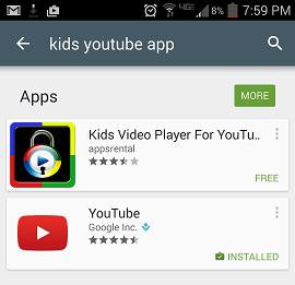 screenshot kids video player for youtube