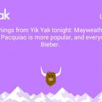 Featured Yik Yak Peek: Mayweather-Pacquiao Live! May 3, 2015