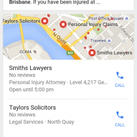 SEO Analysis of Brisbane Australia's Personal Injury Attorneys- July 2015