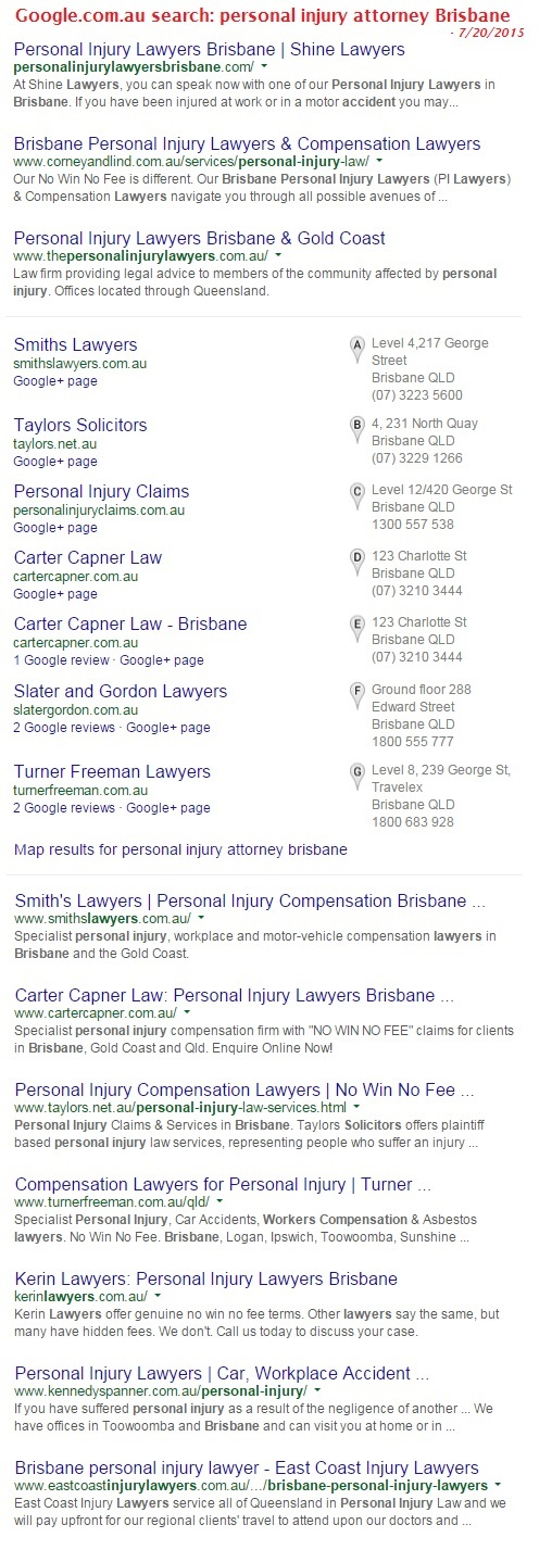 brisbane personal injurytop 10 search results July 2015