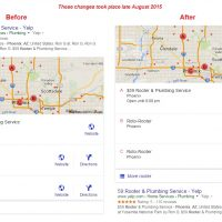 Organic Search Results Pushed Below Google Local Results - September 2015