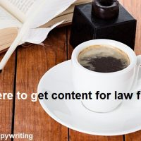 Content for Law Firms - Where to get it
