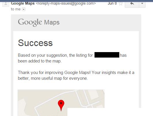 success google maps