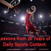 Lessons from 20 Years of Daily Sports Content