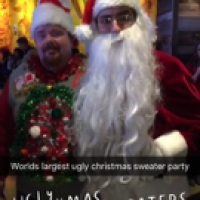 Ugly Xmas Sweaters Snapchat Story December 2015
