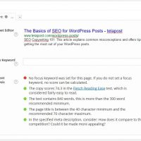 The Basics of SEO for WordPress Posts