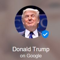 Donald Trump Google Podium Account