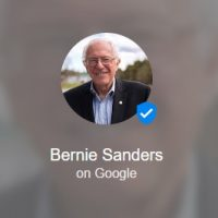 Bernie Sanders Google Podium Account