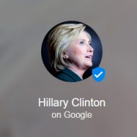 Hillary Clinton Google Podium Posts
