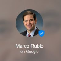 Marco Rubio Google Podium Posts Account