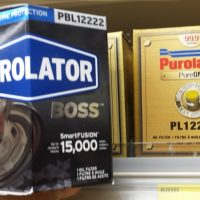 Purolator Boss Oil Filter Hexagonal Packaging and Marketing