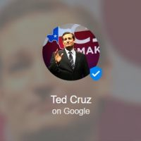 Ted Cruz Google Podium Posts Page