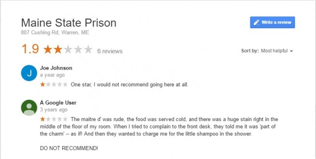 main state prison google reviews