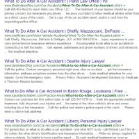 Generic FindLaw Content Seen in Google Search