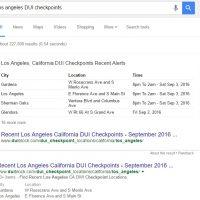 Google Begins Providing Answer Boxes for DUI Checkpoints via DUIBlock.com