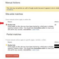 Google Search Console Hacked Site Manual Actions and SEO
