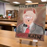 Here is the Roanoke Rapids NC High School Anti Trump Painting