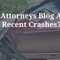 Car Accident Content - Can Attorneys Blog About Recent Crashes?
