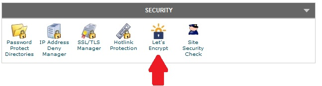 lets encrypt button
