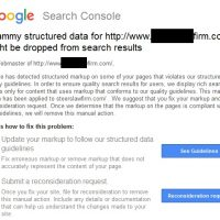 Spammy Structured Data Error Messages Being Sent March 2017