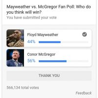 Mayweather VS McGregor Poll in Google Search: Google Polls?