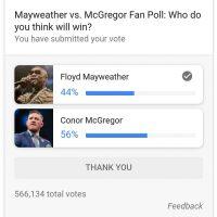Mayweather VS McGregor Poll in Google Search: Google Polls?
