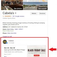 Brands Missed Opportunity: Not Using Google Posts on Black Friday 2017
